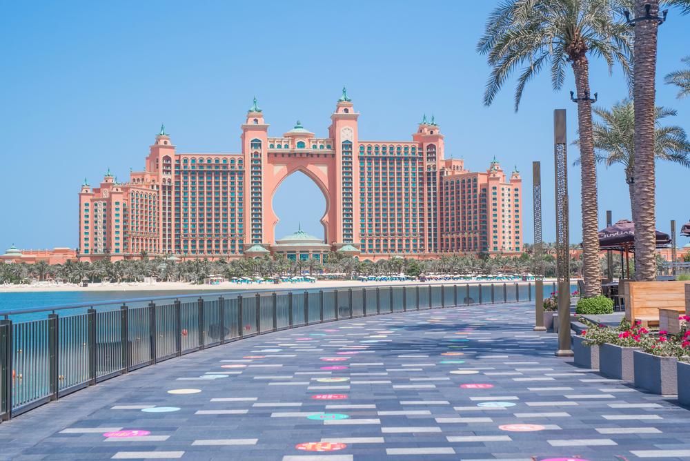 Ďalší z ikonických hotelov v Dubaji – hotel Atlantis The Palm – stojí na Palm Jumeirah. Zdroj: Shutterstock