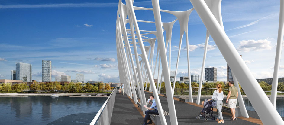 Študenti ukázali, ako môže vyzerať prvý promenádny most v Bratislave. Predstavujeme víťazné návrhy