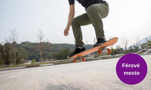 Férové mesto: Skateboarding je olympijský šport, v Bratislave však nemá podmienky
